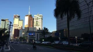 Traffic downtown Makati, Manila Philippines