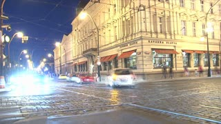 traffic time lapse, Prague