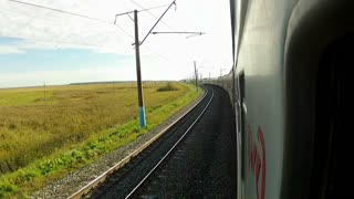 Trans-Siberian Railway train drive very slow