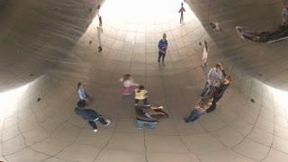 Under the Bean at Millennium Park, Chicago