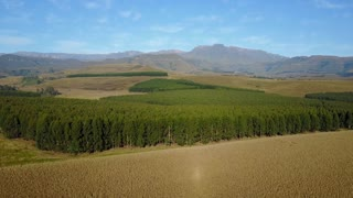 Aerial view from the eastern portion of the Great Escarpment the Drakensberg in South Africa