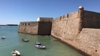 Castle of Santa Catalina in Cadiz Spain