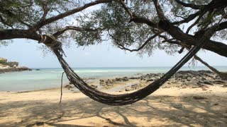 Hammock on Ao Kiu Na Nok beach resort on Koh Samet, Thailand