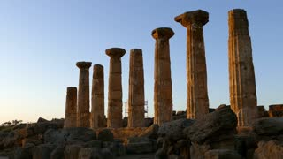 Pillars from the Temple of Juno a 5th-century BCE Greek temple in Agrigento, Italy