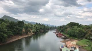 River Kwai in Amphoe Sai Yok, Kanchanaburi  Thailand