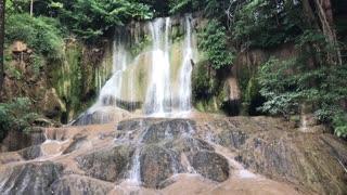 Sai Yok Noi Waterfall in Kanchanaburi Thailand