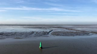 Sailing at the Wadden Sea in Friesland, The Netherlands