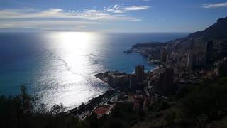 Sunny Monaco coastline in Europe
