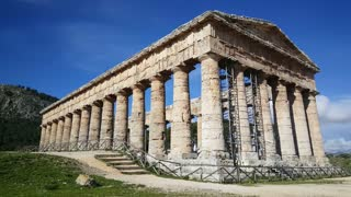 The Doric temple of Segesta in Italy