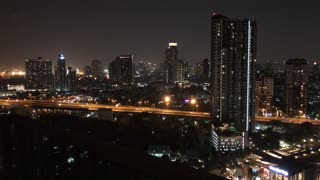Time lapse from the city Bangkok at night in Thailand