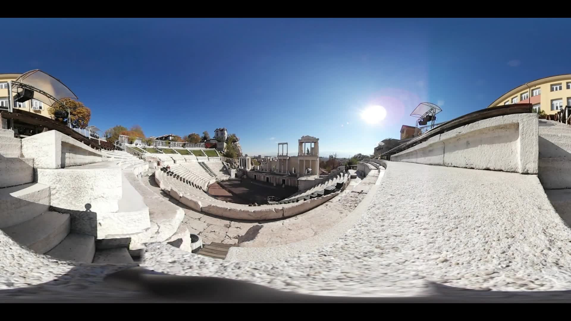 Virtual Reality 360 from the Roman theatre of Plovdiv in Bulgaria