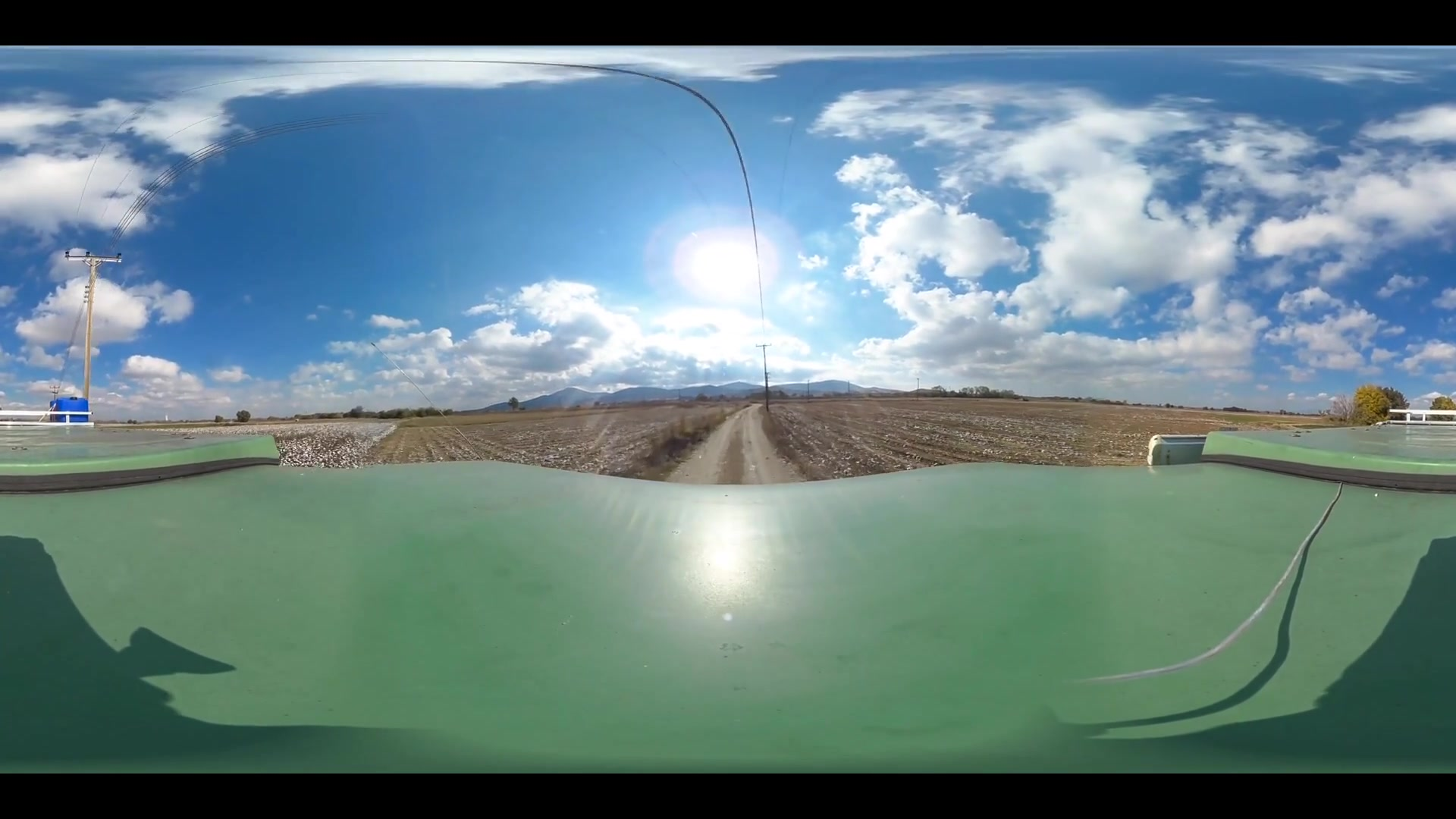 Virtual Reality 360 view from driving around Alexandroupoli in Greece