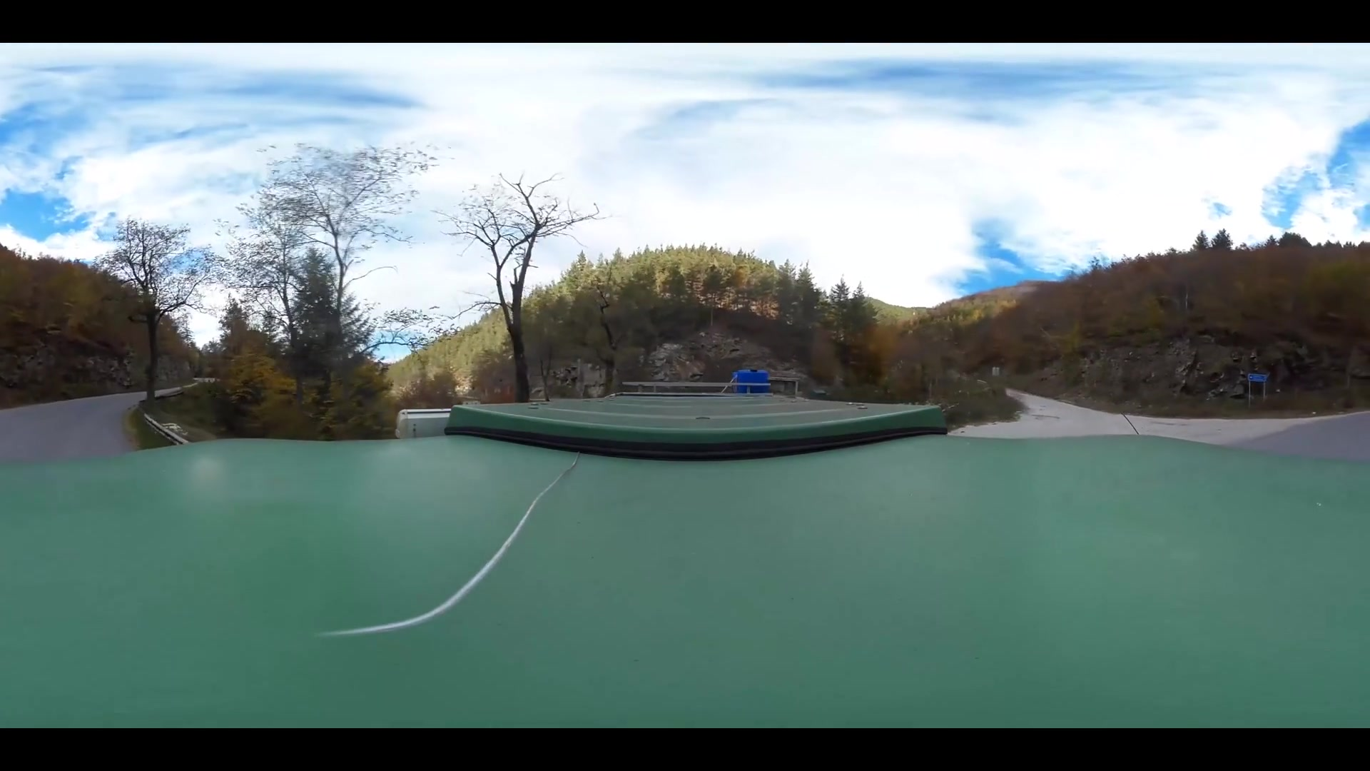 Virtual Reality 360 view from driving from Bulgaria to the Greece border