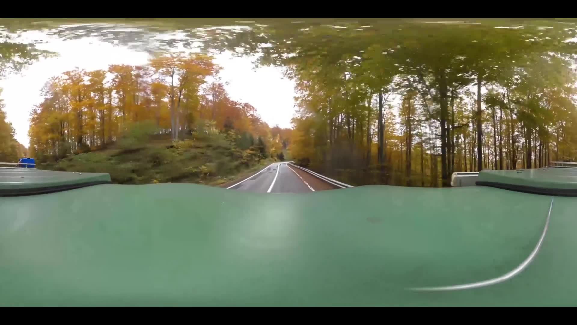 Virtual Reality 360 view from driving the Transfagarasan Highway in Romania