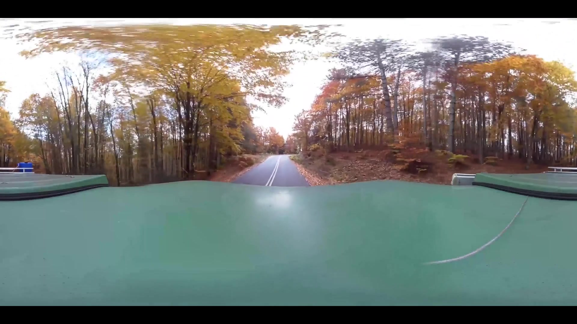 Virtual Reality 360 view from driving through Greece