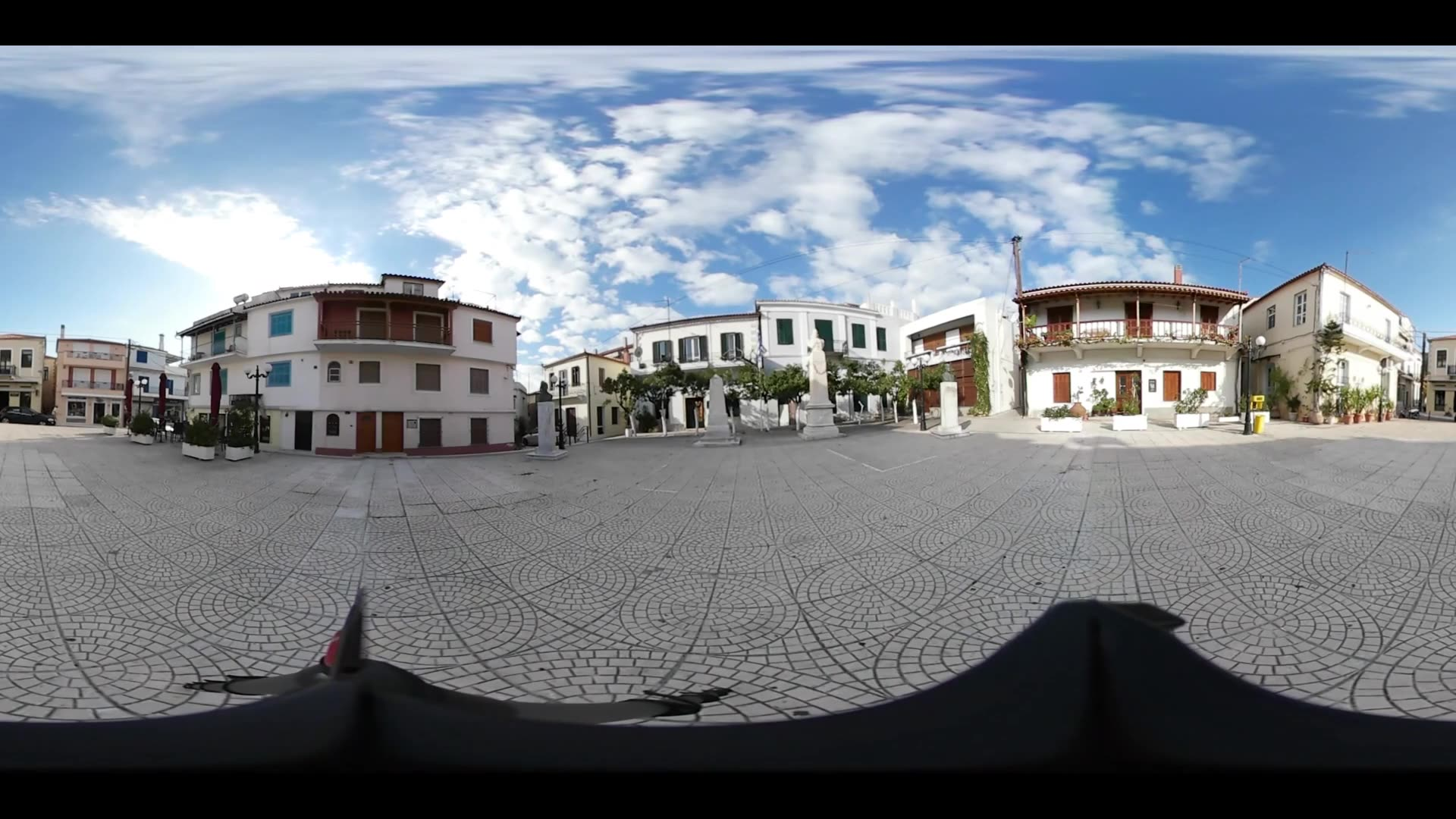 Virtual Reality 360 view from the pier in Limni Greece
