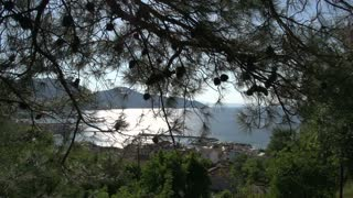 View from a hill at Limenas, Thassos town,  Greece