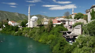 View from The Stari Most (Old Bridge) Mostar Bosnia and Herzegovina