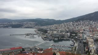 View over Kavala from Byzantine castle in Greece