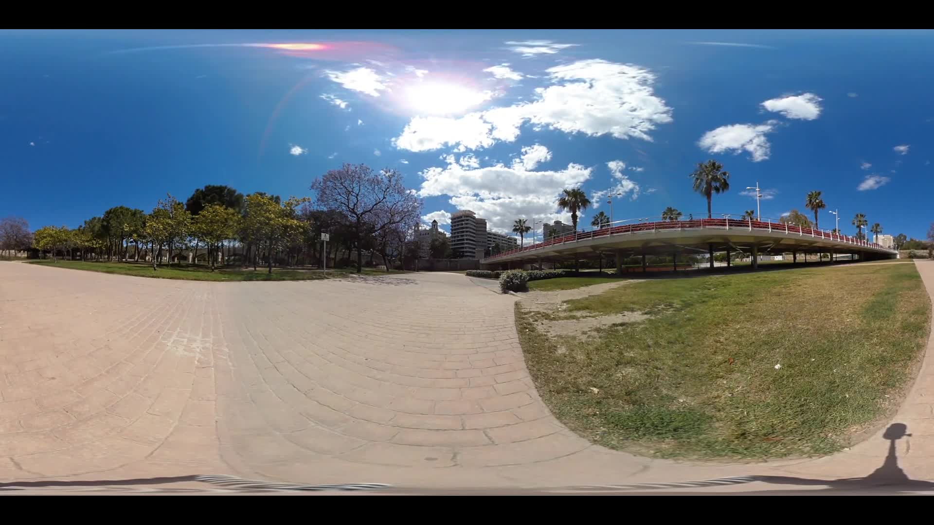 Virtual Reality 360 view from Pont de les Flors in Valencia Spain