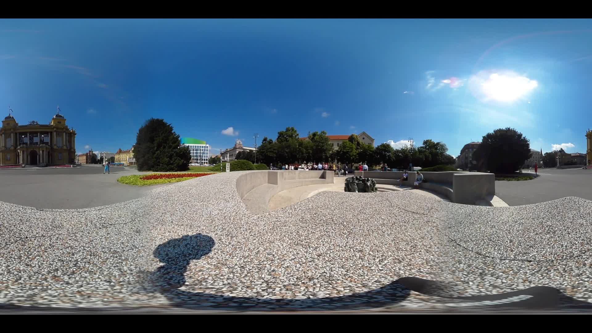 Virtual Reality 360 view from the Croatian National Theatre in Zagreb Croatia