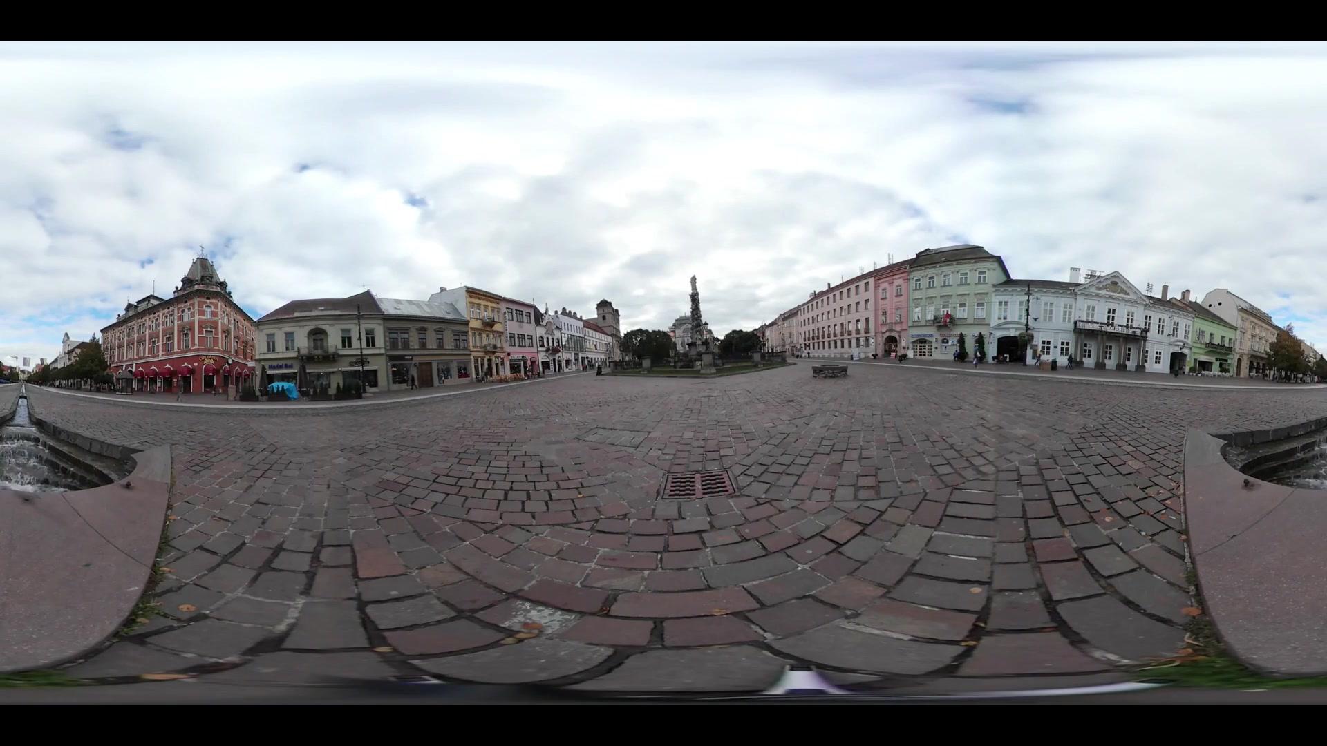 Virtual Reality 360 view from the Hlavna street in Kosice Slovakia
