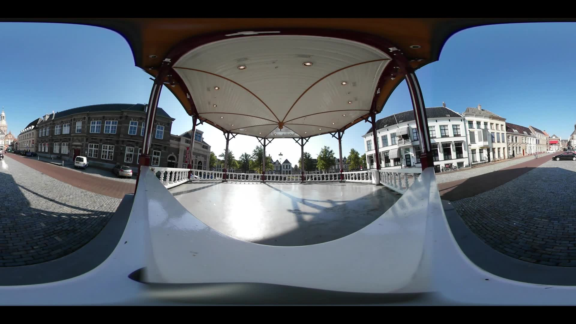Virtual Reality 360 view from the Nieuwe markt in Kampen The Netherlands