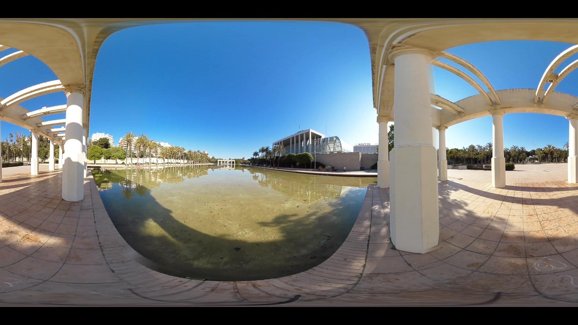 Virtual Reality 360 view from the Palau de la Musica in Valencia Spain