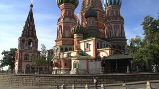 walking by Saint Basil's Cathedral