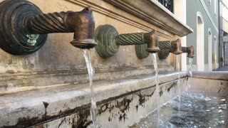Water fountain in the old town