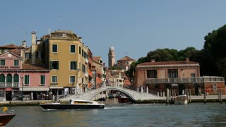 Water taxis in Venice Italy