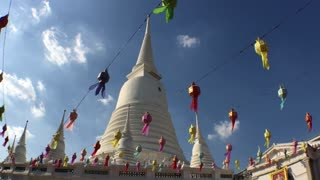 Wide angle shot from the Wat Prayurawongsawas temple Bangkok, Thailand