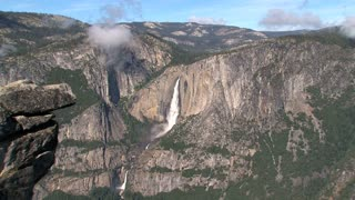 Yosemite National Park landscape with waterfall