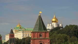 Zoom out from Kremlin Moscow