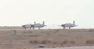 Aerobatics team performing maneuvers during an airshow