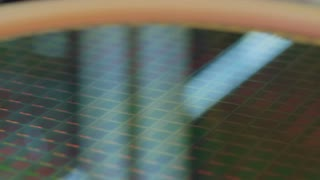 Close up of a silicon wafer