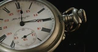 Close up shot of an antique pocket watch