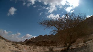 Clouds time lapse in the Negev desert in Israel
