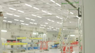 Engineers in construction project in a clean room