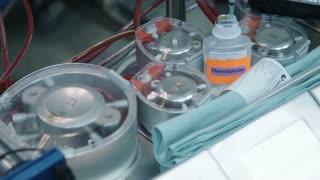 Heart lung machine during open heart surgery