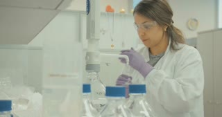 Scientist working in a pharmaceutical company laboratory