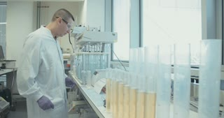 Scientist working in a pharmaceutical lab