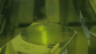 Silicon wafer in a Semiconductor manufacturing facility