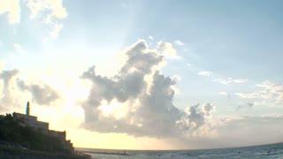 Sunset in old Jaffa port, Israel