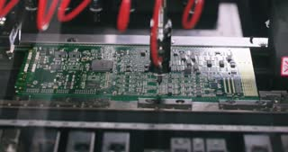 Surface Mount Technology (Smt) Machine places resistors, capacitors, transistors, LED and integrated circuits on circuit boards at high speed