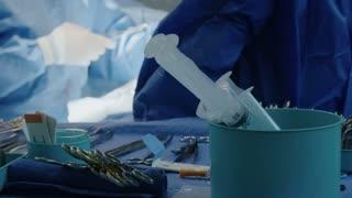 Surgeons during open heart surgery
