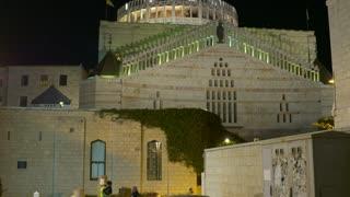The basilica of Annunciation in Nazareth, Israel