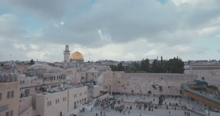 The temple mount and western wall in old city Jerusalem