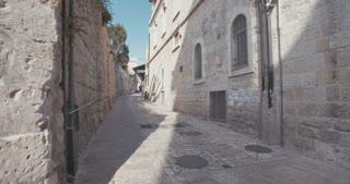 The Via Dolorosa in old city Jerusalem