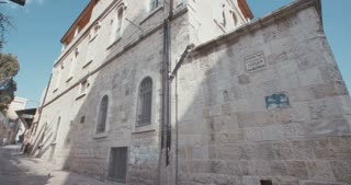 The Via Dolorosa in old city Jerusalem